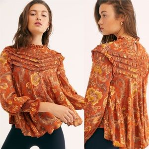 Spell Gypsy Collective Aurora Blouse Burnt Ember